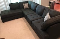 Gray sectional sofa Falls Church, 22042