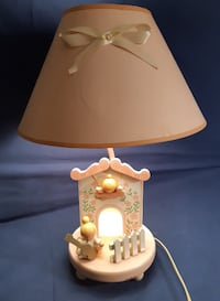 Childs Bedside Table Lamp with Shade-Very unique- Collectible