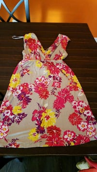 pink and white floral sleeveless dress Calgary, T1Y 6V5