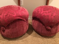 two red floral ottoman chairs Ashburn, 20148