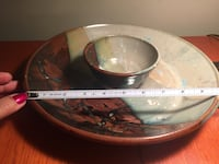 Stone wear with bowl attached.  nacho/salsa , chip/dip Calgary, T2Z 3R3