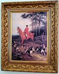 Hunt scene giclee in ornate gilded frame Arlington, 22209