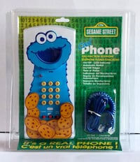 SESAME STREET COOKIE MONSTER TELEPHONE FROM 1997 REAL CORDED PHONE! Toronto