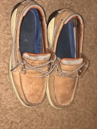 pair of brown leather boat shoes Schenectady, 12308