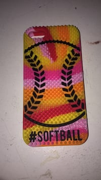 Multicoloured #softball iphone 5 case Oakville, L6H 5Y1