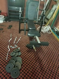 York Force 5 Bench plus weights and Barbells Elizabethtown, 17022