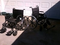 black and gray folding wheelchair Galt, 95632