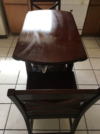 Brown wooden table with chair Las Cruces, 88005
