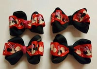 four black-and-red Minnie-Mouse-themed bow ties El Paso, 79925