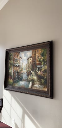 brown wooden framed painting of house Anaheim, 92808