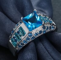 Beautiful Aquamarine Ring in 925 Sterling Silver sz 8 &10 Available in Pink Topaz also sz 8 SALE!!!!!!! Coleman, 76834
