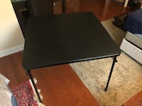 black wooden folding table with black metal base Washington, 20016