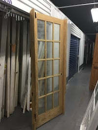"32/80"" 15 LITE PINE PARTIALLY PREHUNG DOOR"