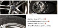 black 5-spoke vehicle wheel and tire set Vaughan