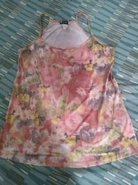 women's pink and white floral sleeveless top Oklahoma City, 73149