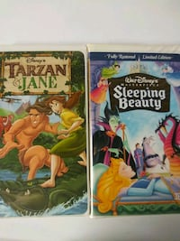 Sleeping Beauty and Tarzan and Jane vhs tapes Baltimore