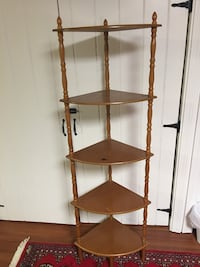 Brown wooden 5 tier rack