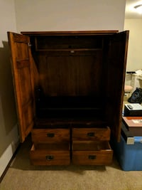 Large wooden entertainment center VERY HEAVY Lakeville, 55044