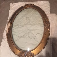 Antique/retrovintage GOLD LEAF picture frame wcurved glass authentic Toronto, M5R 1C6