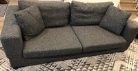 Mobilia black / charcoal fabric couch sofa Toronto, M6S