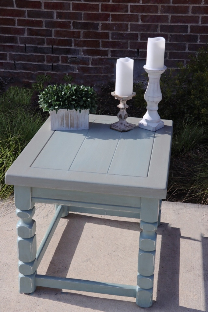 white wooden table with mirror for sale  Conroe