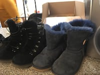 pair of black suede fur boots Rockville, 20850