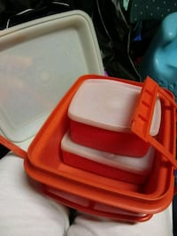 red and white plastic container Lubbock, 79424