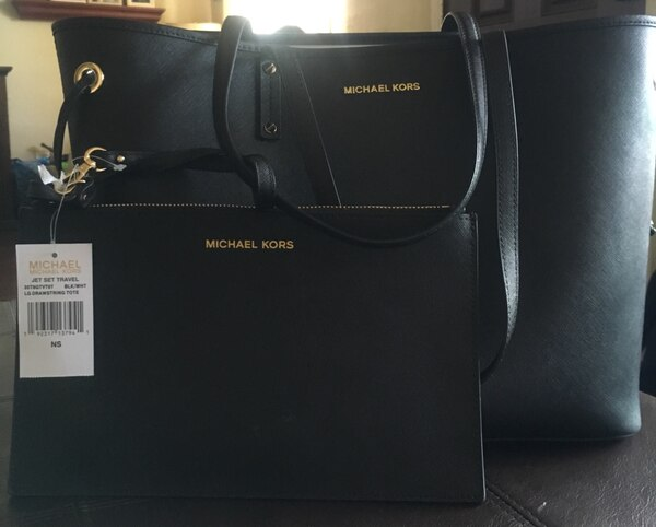 69fc744827 Used black Michael Kors leather tote bag for sale in San Leandro - letgo