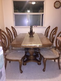 brown wooden dining table set Toronto, M1G 1R9