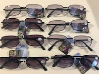 Sunglasses with reading glass double vista