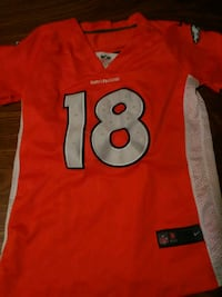 red and black NFL jersey null