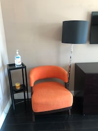 orange fabric chair $80 only! great condition