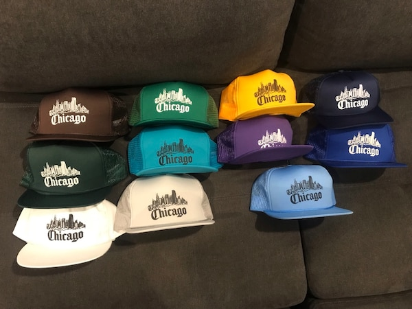 Vintage Snapback Hats >> Over Nos Hats Chicago 100 Vintage Snapback Screen Print