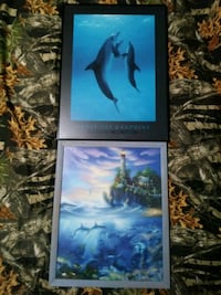 painting of dolphins with gray frame Oregonia, 45054