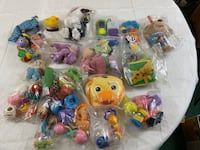 Assorted baby toys (bag full)