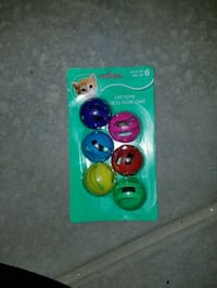 six assorted-color cat toys bell Thornton