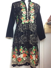 women's black and multicolored floral dress 547 km