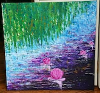 24x24 inches Palette knife acrylic painting  Vaughan, L4L 2S6