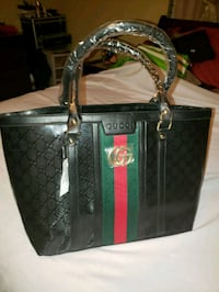 black and green Gucci leather tote bag 2273 mi
