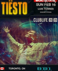 1x Ticket Tiesto Rebel Toronto, M5A 3S1