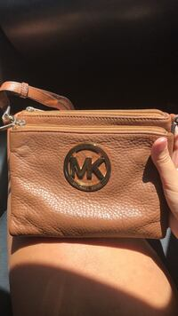 brown Michael Kors leather satchel