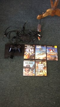 Play station 2 with 5 games one controller and all cords Asphodel-Norwood, K0L 2V0