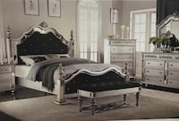 white 5-piece bedroom set Houston, 77041