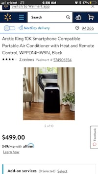 Smartphone compatible 4-in-1 portable A/C/heater $350OBO.  Retail $499