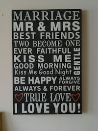 mr and mrs wall art
