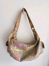 Fossil Vintage Tapestry Canvas Hobo Purse Woven Leather Strap Houston, 77014