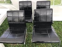 4  black leather padded chairs Miami Gardens, 33055