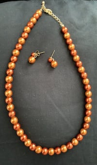 Brown Pearl Necklace/Earrings Alexandria, 22312