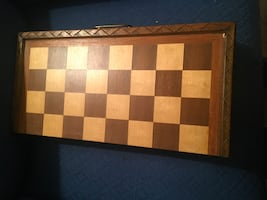 Hand made chess set