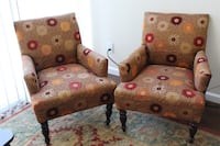 Two Floral Fabric Chairs  Los Angeles, 90046